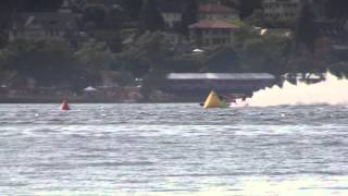 Greatest Hydroplane race ever at Seattle Seafair? Graham Trucking Wins Oh Boy Oberto 8-2-2015