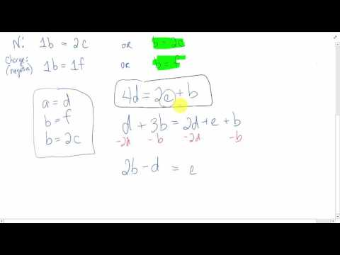 Balance Chemical Equation with Simultaneous Equations