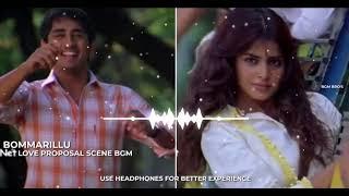 #BOMMARILLU LOVE PROPOSAL SCENE BGM   Bommarillu BGM    Devi Sri Prasad Bgms   #Siddharth, #Genelia