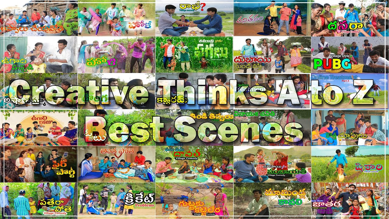 All videos best scenes | village comedy | Creative Thinks A to Z