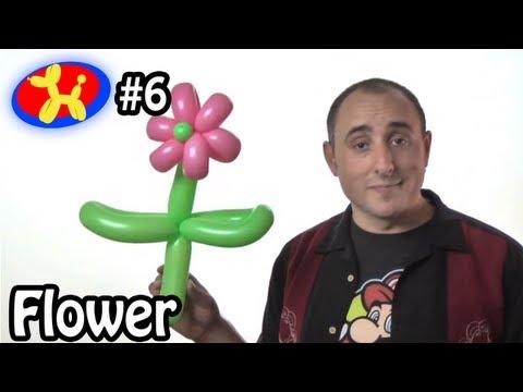 Two Balloon Flower - Balloon Animal Lessons #6  ( globoflexia )