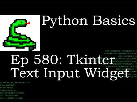 Python Basics Tutorial Tkinter Text Entry Widget thumbnail
