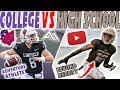 Day In The Life of A High School Football Player VS Day In The Life of A College Football Player