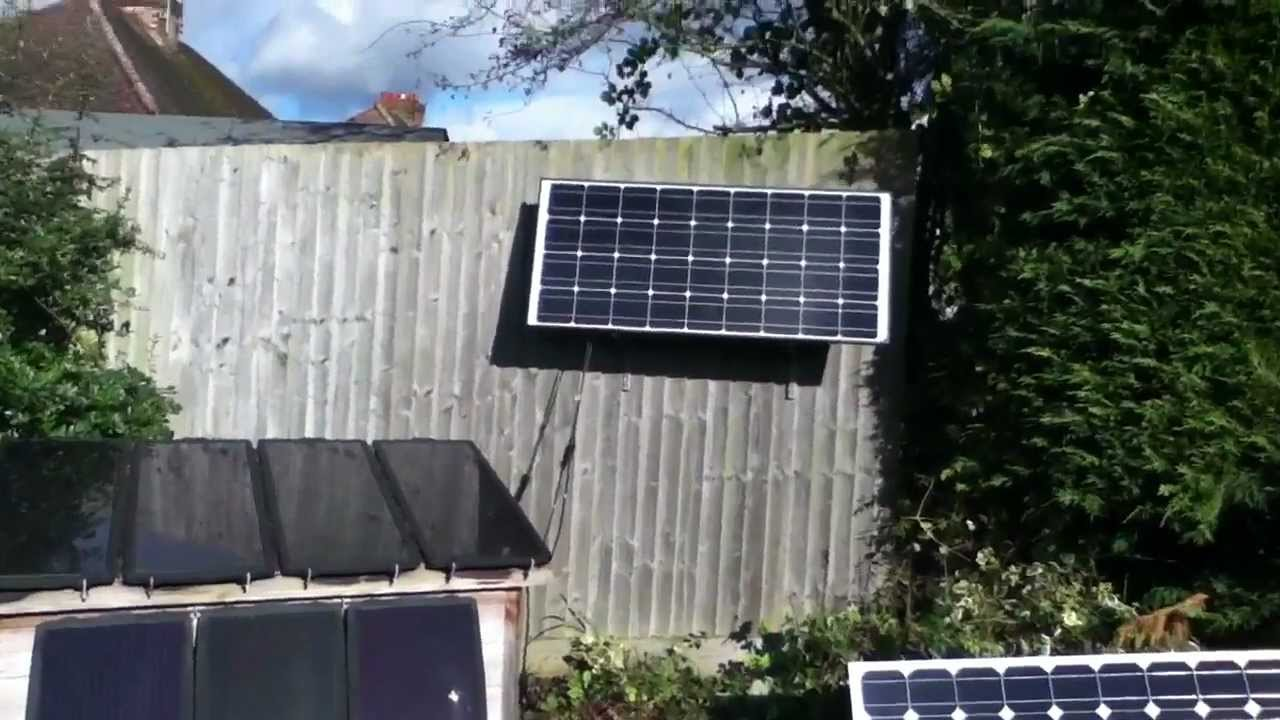 Fixing A Solar Panel To A Fence Using Double Slot Shelving