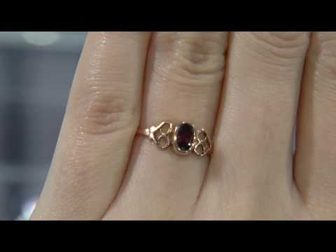 00641 - MTC025 - Rose Gold Antique Garnet Ring