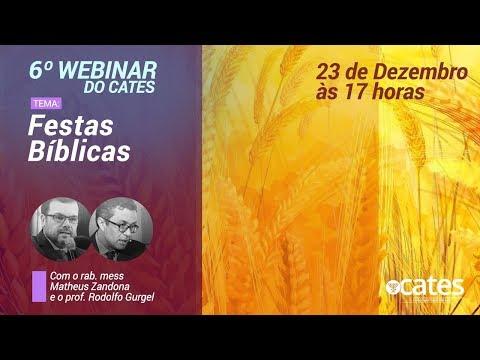 Festas Bíblicas - Webinar Do Cates - Rab. Matheus Zandona e Prof. Rodolfo Gurgel