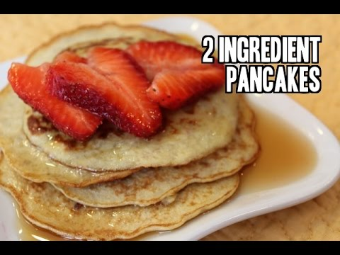 2 Ingredient Banana Egg Pancakes (Gluten Free)