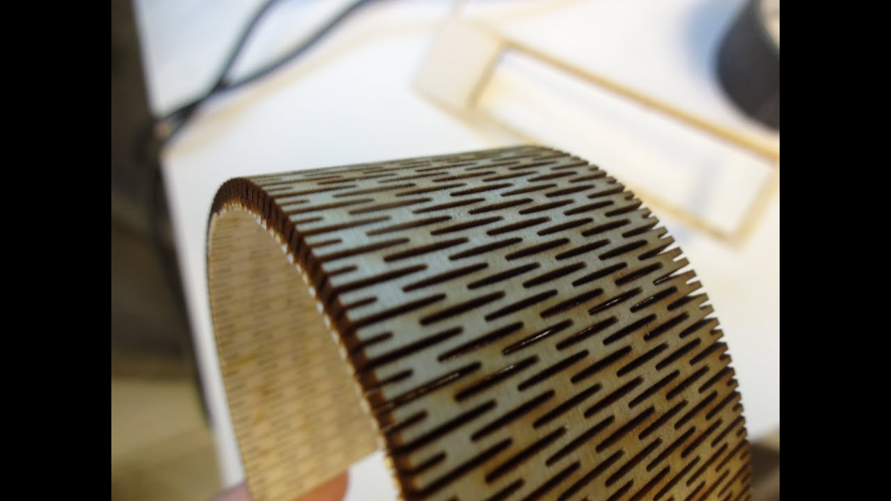 Laser cut bendable wood youtube for How to slice wood