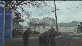 Police Dashcam Captures Man Charging a Police Officer and Getting Shot