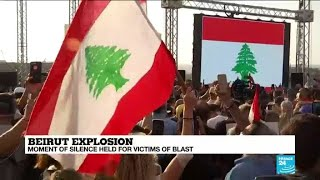 Beirut explosion: Moment of silence held for victims of blast