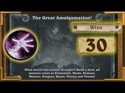 Hearthstone:Insane 75% Winrate With Warlock |The Great Amalgamation | Tavern Brawl  Saviors Of Uldum