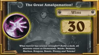 Hearthstone:Insane 75% Winrate With Warlock |The Great Amalgamation | Tavern Brawl  Saviors Of Uldum
