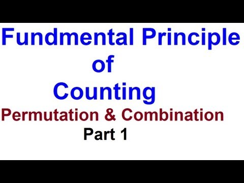 Fundamental Principle of Counting ( Multiplication) - Part 1