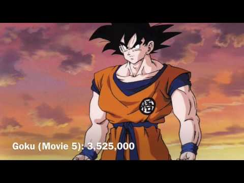 Goku and Vegeta Power Levels (DB-DBZ+Movies)