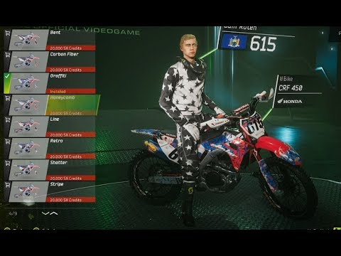 bike customization monster energy supercross game xbox. Black Bedroom Furniture Sets. Home Design Ideas