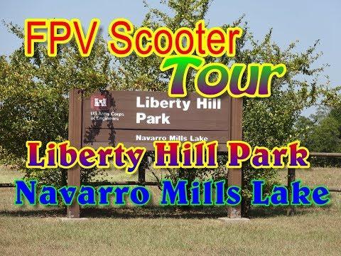 Liberty Hill Park Navarro Mills Lake    FPV Scooter Tour