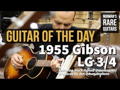 Guitar Of The Day: 1955 Gibson LG 3/4 Sunburst   Norman's Rare Guitars