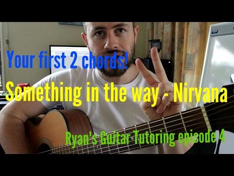 Something in the way - Nirvana, Guitar chords
