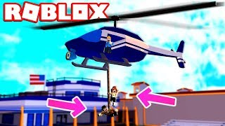 2 PEOPLE ON ONE HELICOPTER ROPE!!?? - Roblox Jailbreak Mythbusting #12