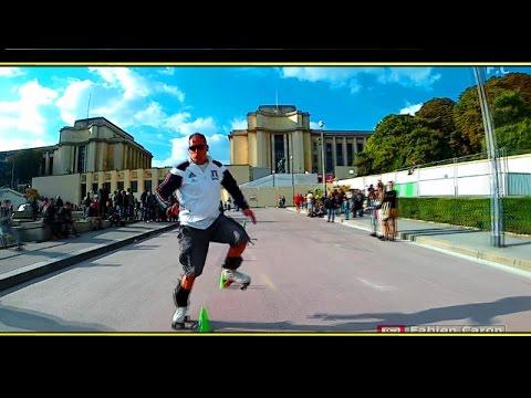 SLALOM Origin 2  ( Roller Freestyle Paris Trocadero 2016) finale rollerblade /Quad