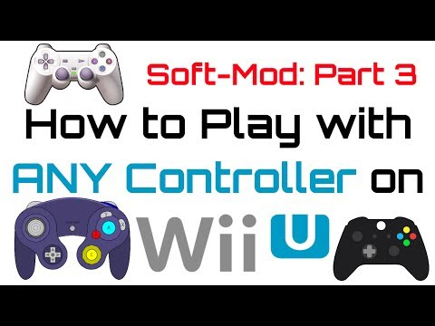 How to Soft-Mod WiiU - Pt 3 - Use ANY Controller to Play! (Ps4, Xbox, Logitech, Keyboard + Mouse)