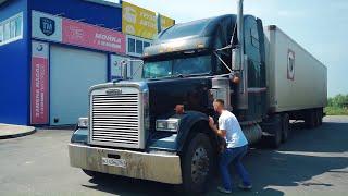 ВНУТРИ КАБИНЫ FREIGHTLINER CLASSIC - Американский грузовик изнутри
