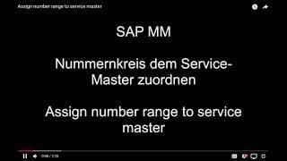 SAP MM - Atama sayı aralığı ana hizmet