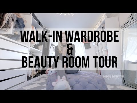 Iam CHOUQUETTE Walk-in Wardrobe/Office & Beauty Room Tour plus Q&A