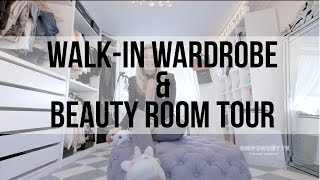 One of Iam CHOUQUETTE's most viewed videos: Iam CHOUQUETTE Walk-in Wardrobe/Office & Beauty Room Tour plus Q&A