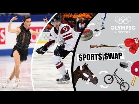 Eiskunstlauf Vs. Eishockey Mit Marchei & Vasiljevs | Sports Swap