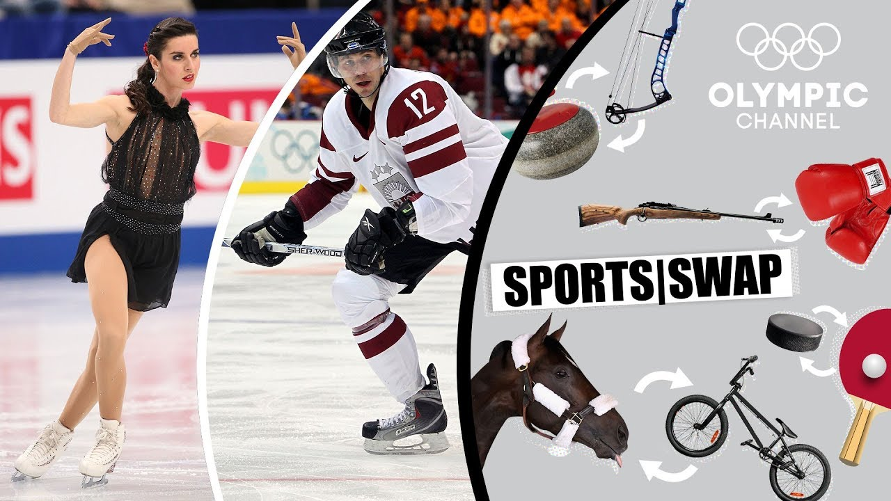 Figure Skating vs Ice Hockey | Who Will be Best at the Other Sport? | Sports Swap Challenge