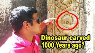 Time Travel Temple Shows Past & Future? Dinosaur at Ta Prohm, Cambodia