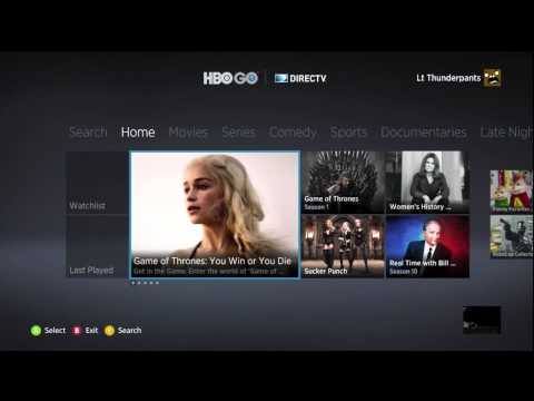 HBO Go on the Xbox 360