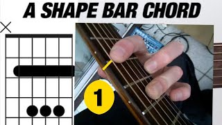 The 'A Shape' Bar Chord - Part 1