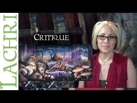 Critique your painting series – art tips w/ Lachri – fairy in acrylic