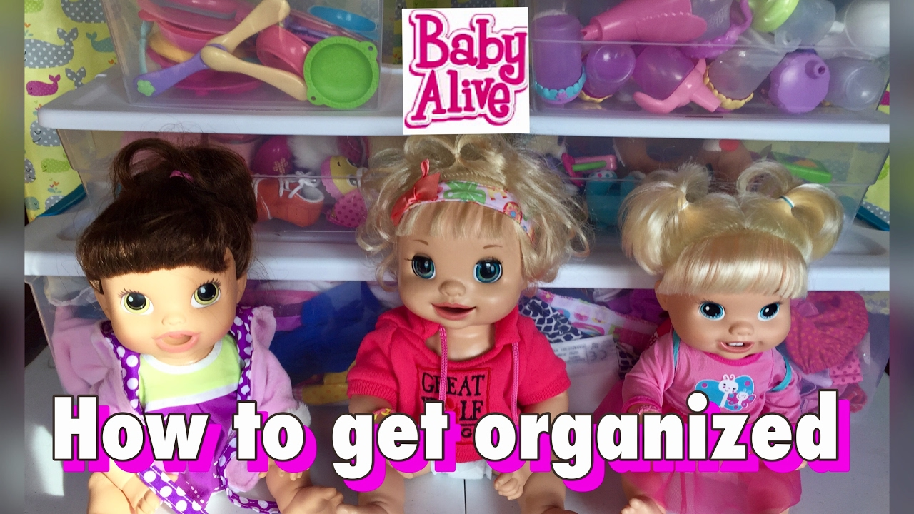 how to organize your baby alive and baby doll accessories youtube. Black Bedroom Furniture Sets. Home Design Ideas