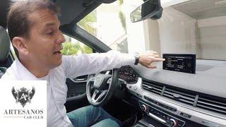 Como conectar y desconectar su teléfono móvil al Audi Q7 2016.