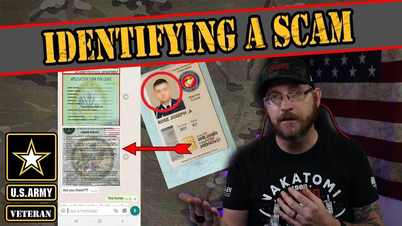 Names of us military scammers