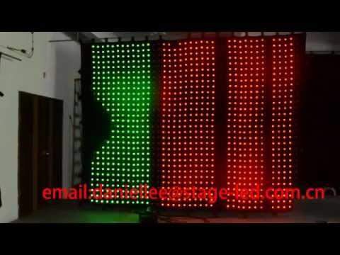 p100mm 3x3m Stage Backdrop Curtain Light / LED Star Curtain / LED Video Curtain