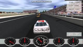 NASCAR Revolution PC Race #30 Gameplay (Darrell Waltrip) (Atlanta) (9 Laps)