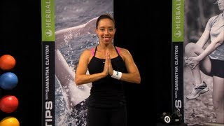 Samantha Clayton's yoga moves for stress reduction   Herbalife Fit Tips