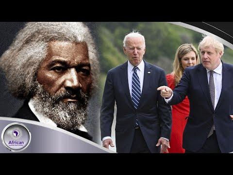 "Boris Johnson Gave Jim Crow Joe A Picture Of Frederick Douglass As ""Gift"""