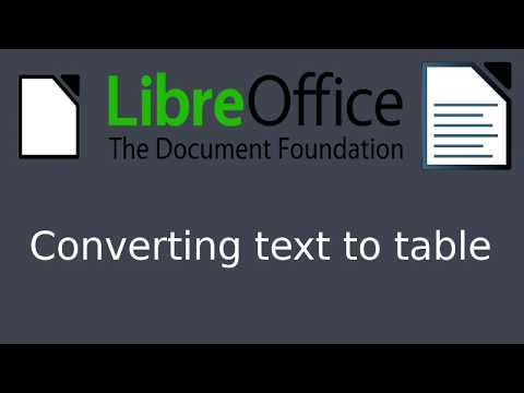 LibreOffice Writer - Text to table convertion [Quick guide]