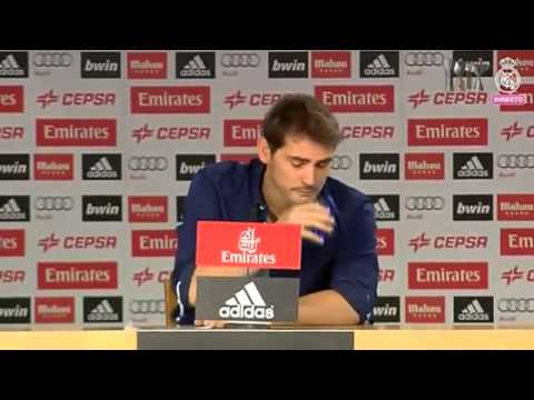 Iker Casillas crying  after leaving Real Madrid - press conference