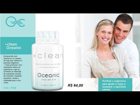 + CLEAN - SUPLEMENTO OCEANIC CHLORELLA, SPIRULINA LECITINA DE SOJA E VITAMINA E