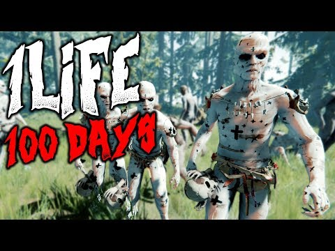 1 LIFE 100 DAYS   The Forest   1 Life Challenge   HARD SURVIVAL