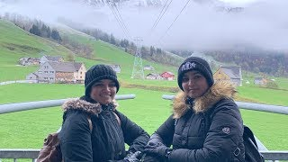 Our kids with fathers & we explore Appenzeller cheese factory & Mt. Schilthorn