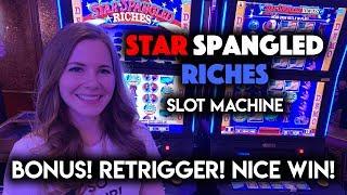 STAR SPANGLED RICHES! Slot Machine! BONUS WIN!