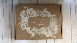 The Planner Society September 2017 Unboxing