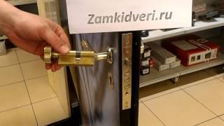 Замена цилиндра в железной двери.